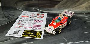 AURORA AFX G-Plus Repro Paper Sticker McLaren F1 Marlboro/Texaco #11