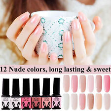 12 Colors 5ml Translucent Nude CHE Gel UV LED Soak Off Nail Art Manicure ND#