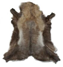 Norwegian Reindeer Real Fur Hide Pelt Rug - XXL - Size: 42x51 - Brown Gray Tone