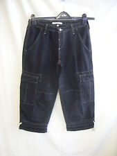"Mens Trousers/cut off shorts - Joie, 28""W, black, cotton, made in USA, used 1893"