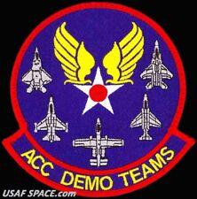 USAF AIR COMBAT COMMAND -AERIAL EVENTS BRANCH- ACC DEMO TEAMS ORIGINAL VEL PATCH