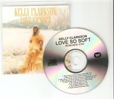 KELLY CLARKSON 'LOVE SO SOFT' REMIXES 2 -  RARE MINT BRAZILIAN 9 TRACK CD PROMO