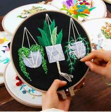 20cm x 20cm Nature Plant Embroidery Kit for Beginners