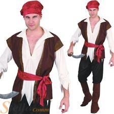 Caribe para hombre traje de Capitán Pirata Adulto Disfraz de Halloween