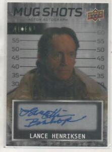 """Alien 3 Upper Deck INSCRIPTION Auto Card No.MS-LH Lance Henriksen """"Bishop"""""""