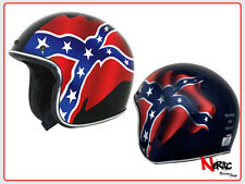 AFX HELMETS FX-76 BLACK REBEL CASCO MOTO CAFE RACER CUSTOM VINTAGE CHOPPER