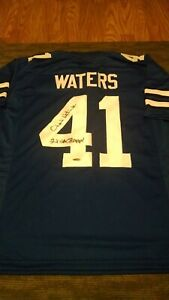 CHARLIE WATERS Signed Dallas Cowboys jersey Tristar COA Super Bowl inscription