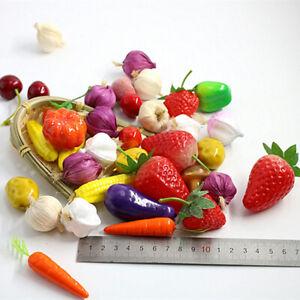 10Pcs Kitchen Lifelike Mini Simulation Artificial Fruits Wedding  Decor Foam Dec