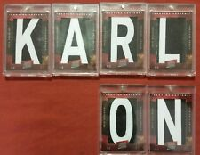 "ERIK KARLSSON 2012-13 PANINI PRIME GENUINE LETTERS LOT 1/1 ""KARL_ _ ON"" PATCHES"