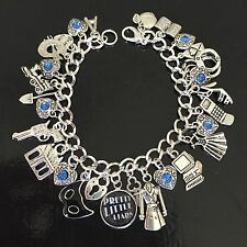 Pretty Little Liars Charm Bracelet, Silver Charm Bracelet, Tv Show, Fandom, PLL,