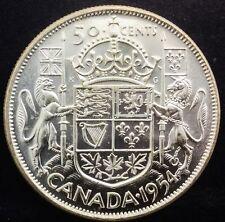 Canada 1954  50 Cents   Near Gem Coin From Original Roll !