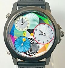 Watch Men's Wrist Watch Quartz Sports 3 time zones 50mm case Color design Big
