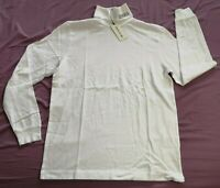 Wood Wood Men's Bright White Austin Turtleneck Jumper Size L Large New With Tags