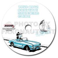 Corvette Service Shop Manual CD 53 1954 1955 1956 1957 1958 1959 1960 1961 1962