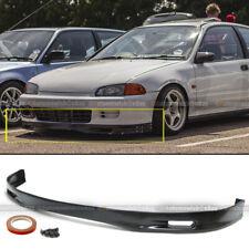 Fits 92-95 Honda Civic 2DR 3DR PU Polyurethane Spoon Style Front Bumper Chin Lip