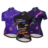 Reflective Biking Jersey Top Women's Full Zip Cycling Bike Bicycle Jersey Shirt