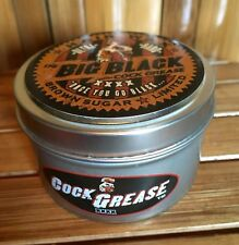 COCK GREASE BIG BLACK XXXX Traditional Heavy Hair Wax  Pomade STRONG STUFF!