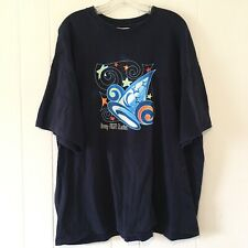 Vtg Disney MGM Studios T Shirt Mens XL Navy Blue Mickey Magic Hat Walt Disney