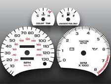1996-1999 Saturn S-Series Dohc Analog Dash Instrument Cluster White Face Gauges (Fits: Saturn)