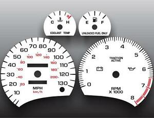 1996-1999 Saturn S-Series DOHC Analog Dash Instrument Cluster White Face Gauges