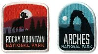 Arches & Rocky Mountain National Park Patches [Lot of 2] Iron or Sew On / Parks