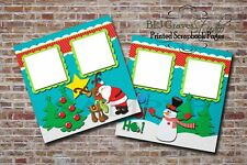 Christmas Santa Rudolph Snowman 2 PRINTED Premade Scrapbook Pages BLJgraves 3