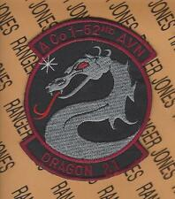 US Army A Co 1st Bn 52nd Aviation Regiment DRAGON 21 4 inch patch