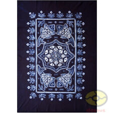 "Handmade Indigo Tie Dye Rural Style Tablecloth Table Cover Tapestry 63""L x 43""W"