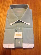 """SHIRT BY STEFANO RICCI BRAND NEW 100% PURE COTTON LONG SLEEVES SIZE 16""""/41CM."""