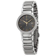 Rado Centrix Grey Dial Stainless Steel and Ceramic Ladies Watch R30928132