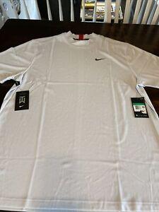 Nike Golf Tiger Woods Dri Fit Mock Neck Golf Shirt Mens Extra Large XL Gray