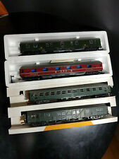 Roco 4 Personenwagen DB 4-achsig grün/rot 4249 4261B 4295 4278