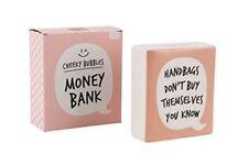 Cheeky Bubbles Slogan Money Bank Handbags Money Box Girls Stocking Filler Gift