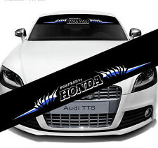 Front Windshield Exterior Banner Decal Car Sticker For Wing Powered by Honda