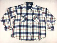 Windbreaker Plaid Flannel Long Sleeve Shirt - Men's Size XL