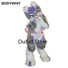 Long Fur Husky Fox Dog Mascot Costume Cosplay Party Outfit Carnival Fursuit