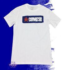 New Converse Splatter Paint Logo White Mens Vintage T-Shirt