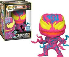Funko Pop Marvel CARNAGE # 678 Black Light Figure Modéle Limited Edition Limité