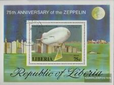 Liberia block89a (complete issue) fine used / cancelled 1978 Zeppelin-Airships