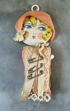 Antique vintage Flapper Doll Pink Kewpie Pin Cushion  No Arms