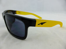 Arnette EASY MONEY Sunglasses Gloss Black Gum Yellow - Grey Lens Made in Italy