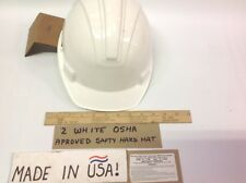 "Two Apex ""RAM CAP"" USA MADE HARD SAFETY HELMET OSHA Compliant NEW WHITE POPULAR"