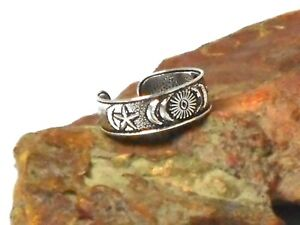 Adjustable Moon and Stars TOE  RING  Sterling  Silver  925