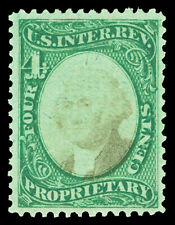 Scott RB4b 1874 4c Proprietary Revenue on Green Paper Unused F-VF NG Cat $25