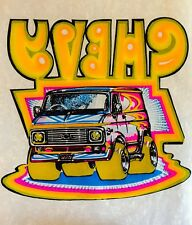 VTG CHEVY Van 70s vanning Boogie Custom Vans Chevrolet GMC NOS T-shirt iron-on