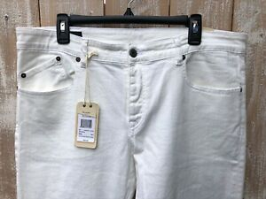 Men's Faconnable Cream 5 Pocket Jeans Sz 38x36 NWT