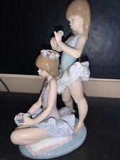 "Lladro #5714 ""First Ballet"" Floral Ballerina Girls"