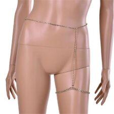 Fashion Women Sexy Rhinestone Leg Crystal Body Chain Thigh Belly Waist Jewelry