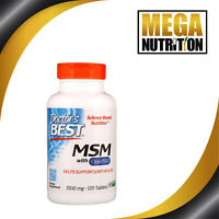 Doctor's Best Best MSM 1500 mg 120 Tablets | Hair Skin Nails Joint Mobility