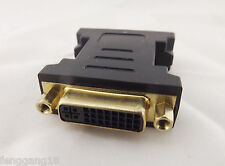 DVI 24+5 Female To Female F/F Adapter Converter Gold Plated DVI Connector Black